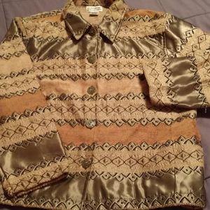 Sz M Textured Media Jacket Blazer Coat
